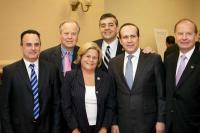 From left: ATAA Past  President Gunay Evinch, Rep. Ed Whitfield (R-Ken.), Rep. Ros-Lehtinen (R-Fla.), Rep. David Rivera (R-Fla.), Ambassador Namik Tan, and TCA President G. Lincoln McCurdy