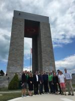 TCA's 17th Congressional Delegation at the Canakkale Martyr's Memorial in Canakkale, Turkey