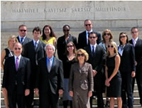 Congressional staff delegation in front of Anitkabir - the mausoleum in honor of the Republic of Turkey's founder Mustafa Kemal Ataturk