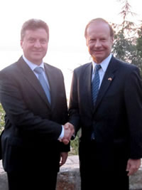 Macedonian President Gjorge Ivanov, and TCA President G. Lincoln McCurdy.