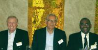 (L-R) Rep. Burton, Dr.Ayasli, Rep. Meeks
