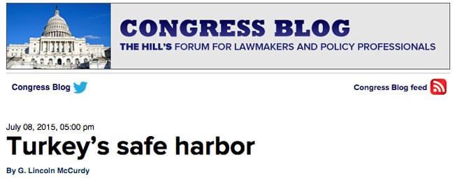 "TCA President's ""Turkey's Safe Harbor"" Op-Ed Published by ..."