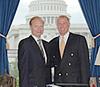 Congressman Dan Burton (R-IN) and TCA President Lincoln McCurdy meet